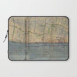 Vintage Utah Beach D-Day Invasion Map (1944) Laptop Sleeve