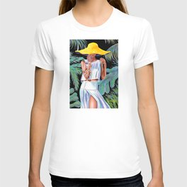 """""""Woman in Coral"""" T-shirt"""