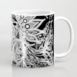 Zen Doodle 3A Black White Glow Coffee Mug