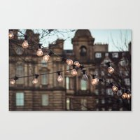 the lights Canvas Prints featuring Lights by Errne