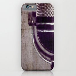 Vintage Microphone (scratched) iPhone Case
