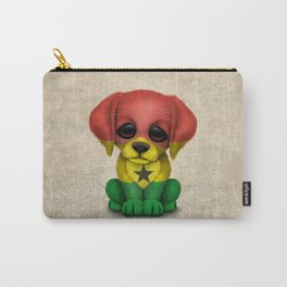 Cute Puppy Dog with flag of Ghana Carry-All Pouch