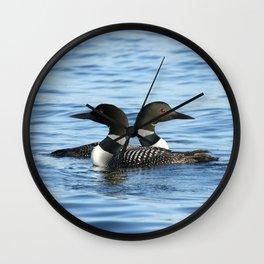 Loon love Wall Clock