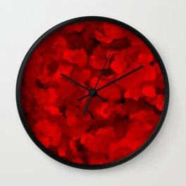 Rich Scarlet Red Gradient Abstract Wall Clock