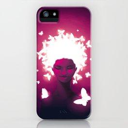 Luminescent Fuchsia iPhone Case