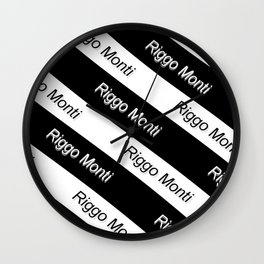 Riggo Monti Design #9 - Riggo Monti with Diagonal Stripes Wall Clock
