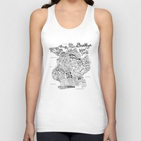 brooklyn Tank Tops featuring Brooklyn Map by Claire Lordon