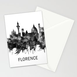 Florence Italy Skyline BW Stationery Cards