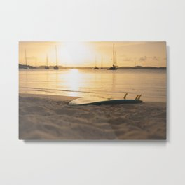 surfboard- travel photography- ocean love Metal Print