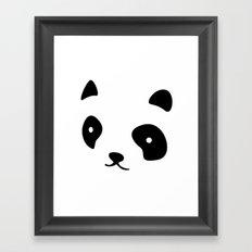 Minimalistic Panda face Framed Art Print