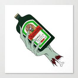 Jagermister Zombie Canvas Print