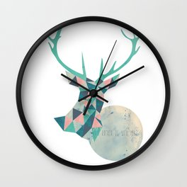 I'd rather be a deer Wall Clock