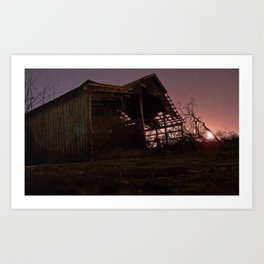 The House With the Glowing Sky Art Print