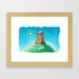 Sun on the Monolith Framed Art Print