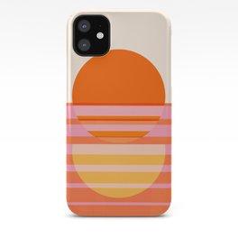 Abstraction_SUNSET_OCEAN_HORIZON_LINE_ART_Minimalism_010A iPhone Case