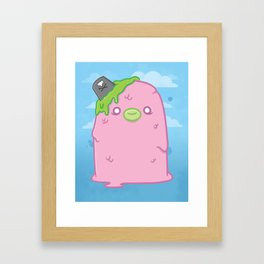 Pink Sewage Paul : Creepy but Cute Monster Series Framed Art Print