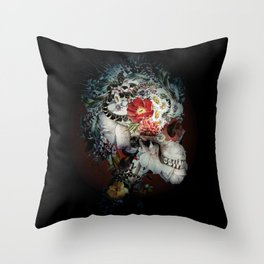 Skull I Black Series Throw Pillow