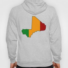 Mali Map with Malian Flag 2 Hoody