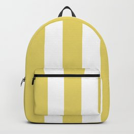Hansa yellow -  solid color - white vertical lines pattern Backpack