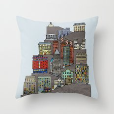 Townscape Throw Pillow