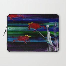 Little Red Frogs, by Karen Chapman Laptop Sleeve