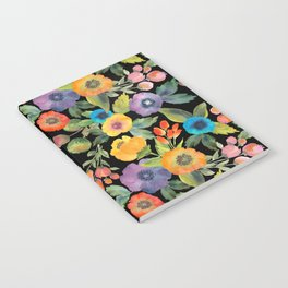 Poppies on Black Notebook