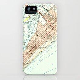 Vintage Map of Wildwood NJ (1955) iPhone Case