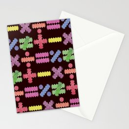 Seamless Colorful Abstract Mathematical Symbols Pattern II Stationery Cards