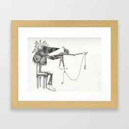 A Dark Reality  Framed Art Print