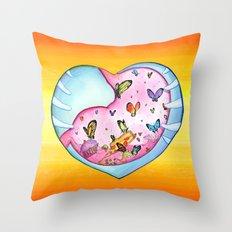 All a Flutter Throw Pillow