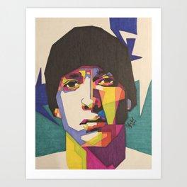 Eminem(Hat) Art Print