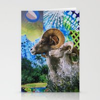 ram Stationery Cards featuring Ram by John Turck