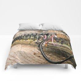 Vintage bicycle Comforters