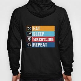 Eat Sleep Wrestling Repeat product | Ring Sport Game Tee Hoody