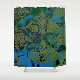 Moss Damask Shower Curtain