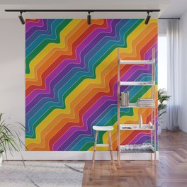 Rainbow Wave Wall Mural