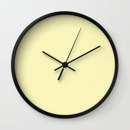 Hello Pastel Yellow - Solid Color Wall Clock