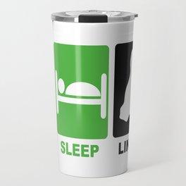 eat sleep linux Travel Mug