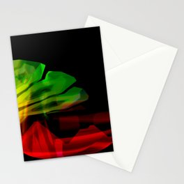 Abstract colour wave aesthetic Stationery Cards