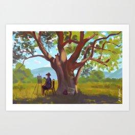 The Painter Art Print