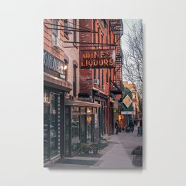 Wines & Liquors, Williamsburg Metal Print