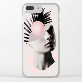 Empty mind Clear iPhone Case