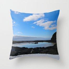 Icelandic Reflection Throw Pillow