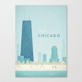 Vintage Chicago Travel Poster Canvas Print