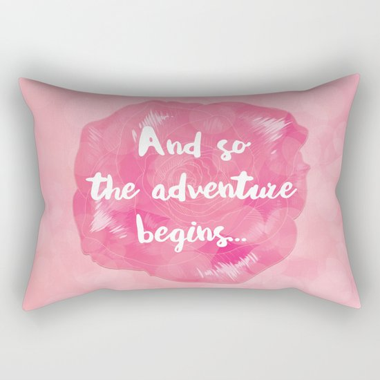 And So the Adventure Begins Rectangular Pillow