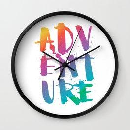 adventure - rainbow Wall Clock