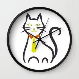 Funny Business Cat Design Wall Clock