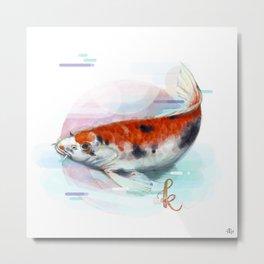 Alphabetical Animals – K for Koi Fish Metal Print