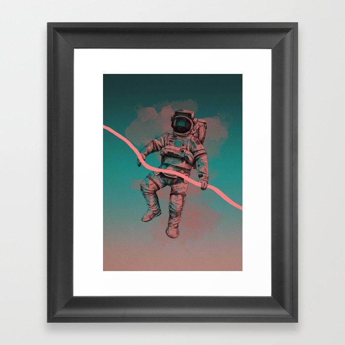 Fallen Astronaut Gerahmter Kunstdruck