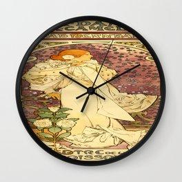 Vintage poster - La Dame Aux Camelias Wall Clock